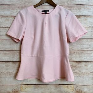 Banana Republic • Pink Peplum Short Sleeve Blouse